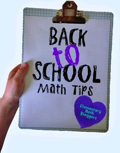 An awesome collection of back to school math tips!