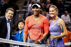 Serena Williams, Roddick, Raonic and Radwanska Participate in a 'Face-Off 'Exhibition Match.
