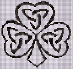 Cross Stitch Borders Looking for your next project? You're going to love Celtic Shamrock 2 Cross Stitch Pattern by designer Motherbeedesigns. Celtic Cross Stitch, Cross Stitch Borders, Crochet Borders, Simple Cross Stitch, Counted Cross Stitch Patterns, Cross Stitch Designs, Cross Stitching, Cross Stitch Embroidery, Embroidery Patterns