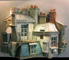 Miniatures de Jean Jacques Brisson  Les Toits de Paris  Parisian roofs