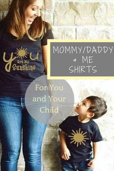 Mom and son matching you are my sunshine |MOMMY and me |Dad son matching shirts | Mon and Son | bff kids | daddy and baby/daughter and mom #ad