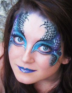 Image result for arty cake face paint wave design