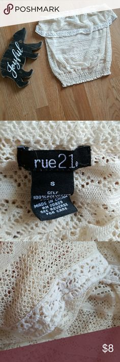 Tube top Summer lace see through tube top Rue21 Tops Tank Tops
