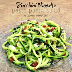 I am obsessed with my spiral slicer. And I may be equally obsessed with my Zucchini Noodle Pesto Pasta Salad, which is a much healthier adaptation of my favorite pasta salad. I've been intrigued e. Pasta Salad For Kids, Pesto Pasta Salad, Pasta Salad Recipes, Spiral Vegetable Recipes, Veggie Recipes, Vegetarian Recipes, Healthy Recipes, Diet Recipes, Veggetti Recipes