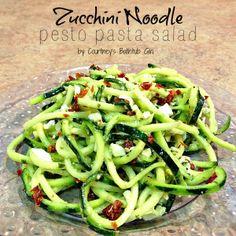Zucchini Noodle Pesto Pasta Salad