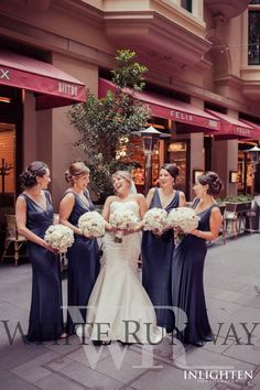 The bride having fun with her bridesmaids #wedding