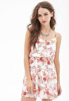 d8588ca18c6816 Floral Print Chiffon Dress - Dresses - 2000102093 - Forever 21 EU English  White Chiffon