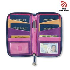 Embroidered RFID Family Passport Holder - Your Trusted Source for Travel Solutions And Gear Diy Passport Holder, Passport Wallet, Travel Packing, Travel Bags, Travel Necessities, Philippines Travel, Travel Scrapbook, Disney Cruise, Luxury Travel