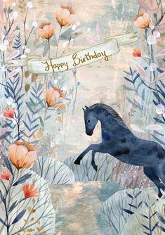 Happy Bday Meme, Very Happy Birthday, Happy Birthday Images, Birthday Love, Happy Birthday Wishes, Birthday Greetings, It's Your Birthday, Cute Birthday Quotes, Horse Birthday