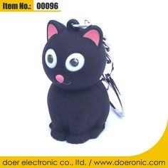 Cat Animals Sound Keychain with LED Light Torch | Doer Electronic the Animals Novelty Gadgets Supplier from China, Welcome to the World of Animals Fun.
