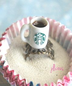 starbucks coffee ring. Cute. Doesn't even need to be Starbucks