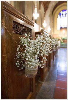 Whimsical Wedding- Church decorations that won't break the bank. #CountryishLiving countryishliving.com