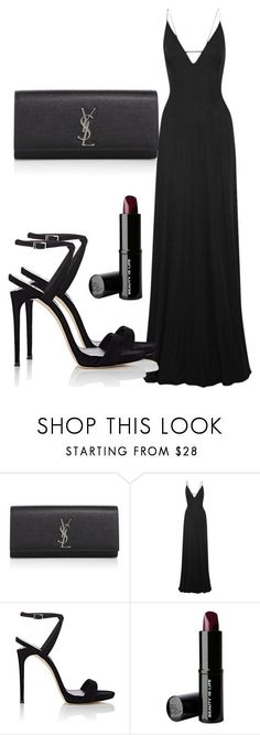 """Untitled #5075"" by beatrizvilar on Polyvore featuring Yves Saint Laurent, Tomas Maier, Giuseppe Zanotti and Beauty Is Life"