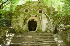 Bomarzo: The park of Monsters of Bomarzo was devised by the architect Pirro Ligorio (he completed the Cathedral of Saint Peter in Rome after the death of Michelangelo and built Villa d'Este in Tivoli) on commision of Prince Pier Francesco Orsini (1523-1585), called Vicino, only to vent the heart broken at the death of is wife Giulia Farnese (+1560).
