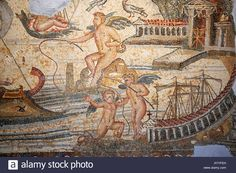 Roman Mosaic, Jamahiriya Museum, Tripoli, Libya, North Africa Stock Photo…