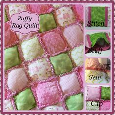 Looking for your next project? You're going to love Puffy Rag Quilt ~ Easy & Fun by designer Build-a-Quilt.