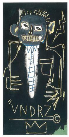 VNDRZ, 1982. Acrylic and oil paintstick on canvas, 59 7/8 x 30 inches (152.1 x 76.2 cm). Didier Imbert Fine Art, Paris