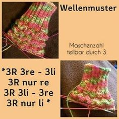 supereinfach und effektvoll - - You are in the right place about handschuhe sitricken doppelt Knitting Socks, Knitted Hats, Crochet Hats, Knit Patterns, Stitch Patterns, Mode Crochet, Wave Pattern, Knitting Projects, Arm Warmers
