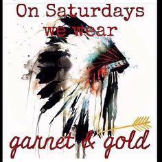 GO SEMINOLES! ON SATURDAYS WE WEAR GARNET AND GOLD!