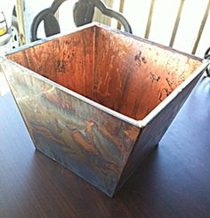 Copper planter 12 inch square, custom sizes available