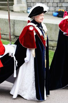 Pin for Later: The Queen's Regalia — What Does It All Mean? Garter Mantle