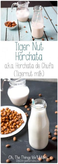 Tigernut horchata, also known as tigernut milk or horchata de chufa, is regaining popularity outside of Spain because of its numerous health benefits. Learn how to make it, and how you can make tigernut flour with the leftover pulp. #horchata #tigernuts #tigernutmilk #horchatadechufa