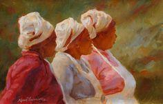 Rene Snyman- 'maids' - South African artist South African Artists, Paintings I Love, Love Art, Mixed Media Art, Female Art, Art Women, Africans, Maids, Artwork