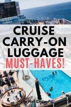 Cruise carry on essentials for every cruiser! If you're heading on a cruise, you'll want to be prepared with a well packed carry on, backpack or day bag. This list has more than 20 of the items most recommended by cruise experts. Packing List For Cruise, Cruise Travel, Cruise Vacation, Travel Packing, Shopping Travel, Travel Hacks, Travel Tips, Honeymoon Trip, Beach Travel