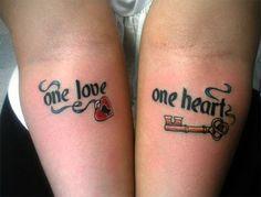Happy Valentine's Day Tattoo Design for Couple