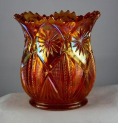 Millersburg Vintage Carnival Glass Country Kitchen Spooner in Marigold - Radium