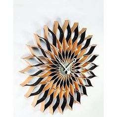 George-Nelson-wood-metal-ATOMIC-SUNFLOWER-CLOCK-29-5-Stunner-Ships-in-2-days