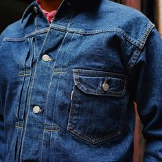 A closer look at the amazing Orslow Pleated Denim Jacket in One Year Wash. Available now in-store and online. (at Independence)