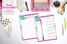 Free Printable Blog Planning Pages for March 2015 from JessicaMarieDesign.com