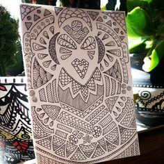 Itzmanà the god of sun, zentangle inspiration