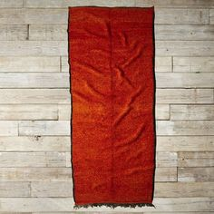 Found Moroccan Rug - Red Orange Shag from West Elm ($999)