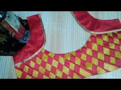 Patch work blouse designs cutting and stitching 2018 - YouTube
