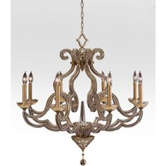 John-Richard Collection Beaded Elegance 8-Light Scroll Chandelier ($3,450) ❤ liked on Polyvore featuring home, lighting, ceiling lights, gold, chain chandelier, john richard lighting, john richard lamps, chain lamp and beaded lamp