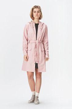 RAINS' Long Jacket in Pink