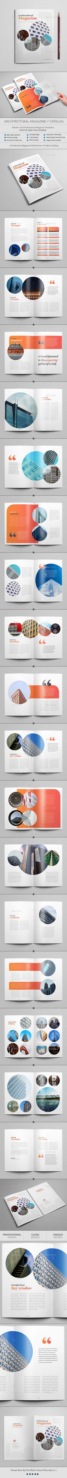 Architecture Magazine Template InDesign INDD