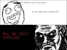 No we shit outside funny memes friend meme funny quotes outside lmao