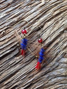 A personal favorite from my Etsy shop https://www.etsy.com/listing/511438165/caddis-fly-nymph-earrings-nymph-fly