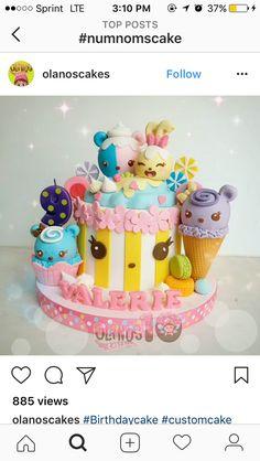 Sidney's birthday cake Sidney's birthday cake 8th Birthday Cake, Birthday Treats, 6th Birthday Parties, Num Nom Cake, Cupcakes, Cupcake Cakes, Cute Birthday Ideas, Shopkins Cake, Kawaii