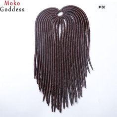Ali MoKoGoddess Synthetic Hair For Braid Crochet Faux Locs Hair Dreads 18 Inch 24 Stands/pack Crochet Hair Extensions Locks