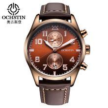 2016 Limitada Ochstin Mens Relógios de Luxo Da Marca Homens Relógio de Couro…