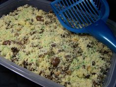 Infamous poop cake recipe not kitty litter