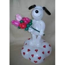 Resultado de imagen para perro con globos