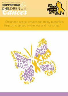 Help spread childhood cancer awareness!!!bechildcanceraware.org