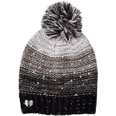 ae347d9f259 Betsey Johnson Crystal Light Knit Beanie ( 28) ❤ liked on Polyvore  featuring accessories