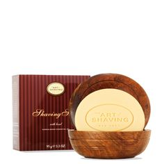 The Art of Shaving Shaving Soap and Wooden Bowl offers a traditional wet shaving experience. When the soap is combined with hot water, using a Shaving Brush, you can build a rich lather inside of the elegant tweak wood bowl. Shaving Brush, Shaving Soap, Shaving Cream, Classic Shaving, The Art Of Shaving, After Shave Balm, Wood Bowls, Men's Grooming, Pure Essential Oils