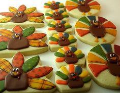 CookieCrazie: Here Come the Turkeys.....Happy Thanksgiving!
